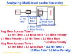 analyzing multi level cache hierarchy
