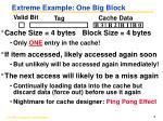 extreme example one big block
