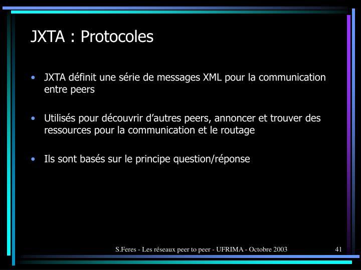 JXTA : Protocoles