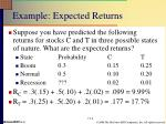 example expected returns