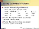 example portfolio variance