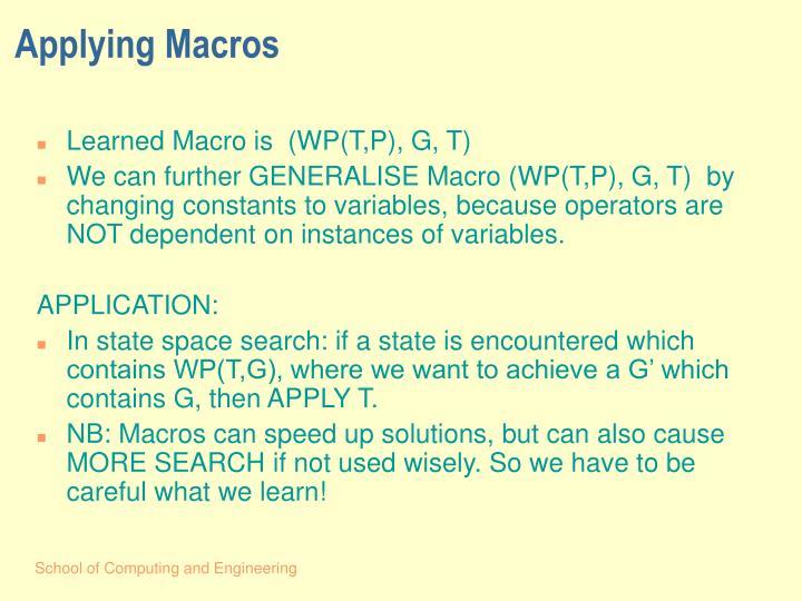 Applying Macros