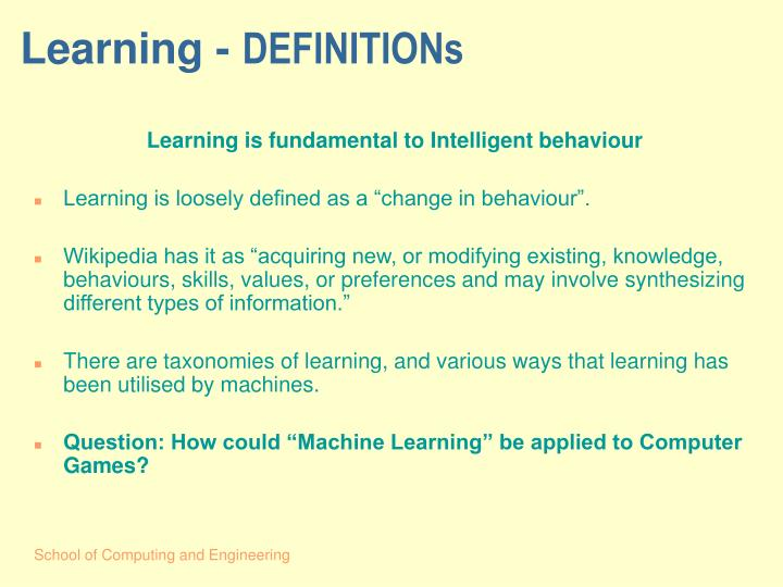 Learning -