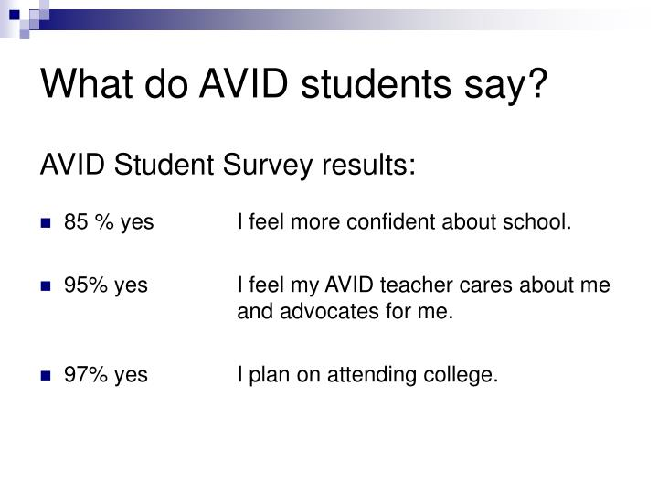 What do AVID students say?