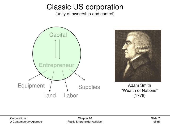Classic US corporation