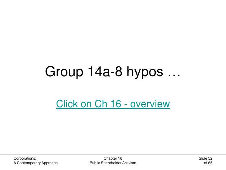 Group 14a-8 hypos …