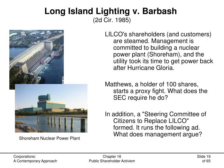 Long Island Lighting v. Barbash