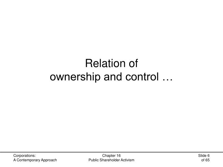 Relation of