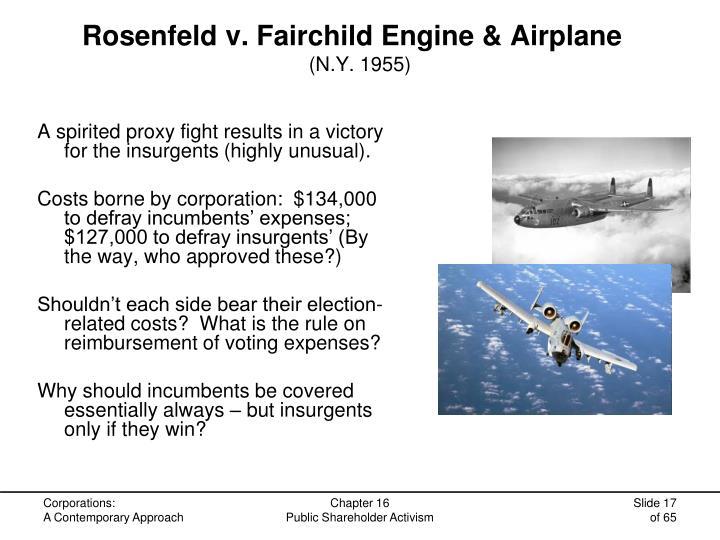 Rosenfeld v. Fairchild Engine & Airplane