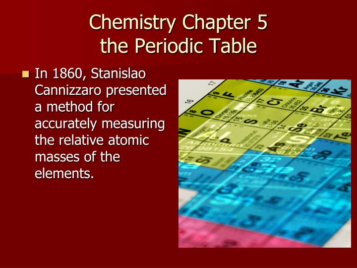 chemistry chapter 5 the periodic table n.