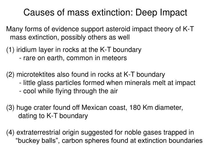 Causes of mass extinction: Deep Impact