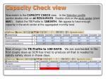 capacity check view