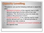 capacity levelling1