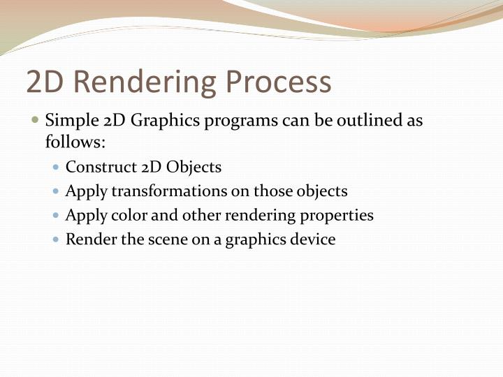 2D Rendering Process