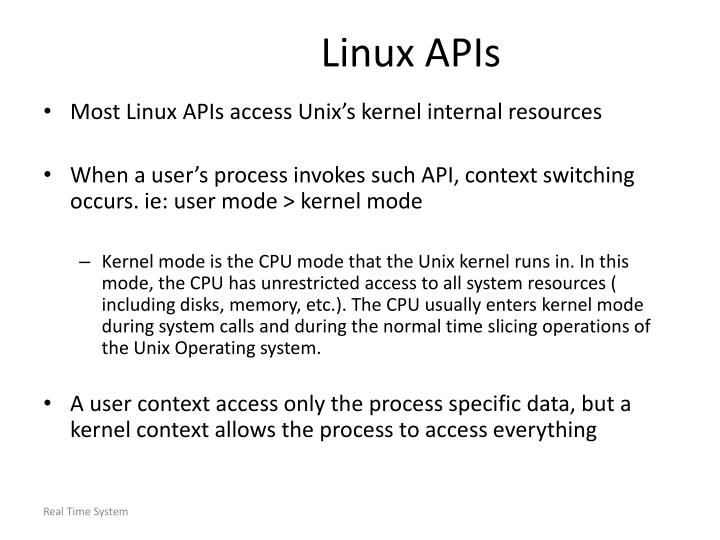 Linux APIs