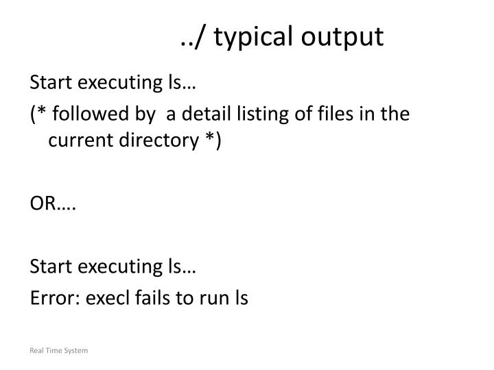 ../ typical output