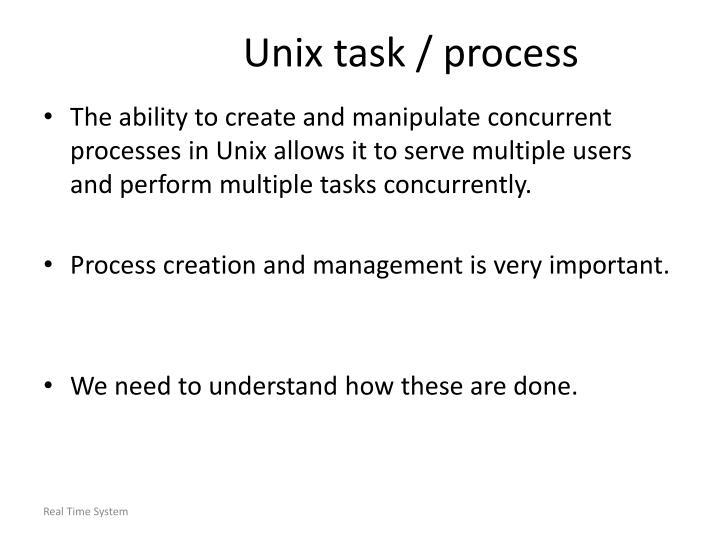 Unix task / process
