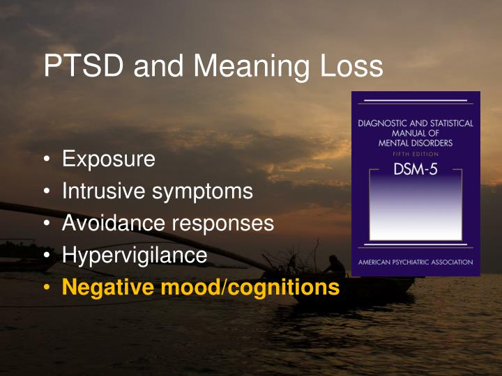PTSD and Meaning Loss