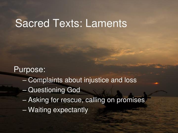 Sacred Texts: Laments