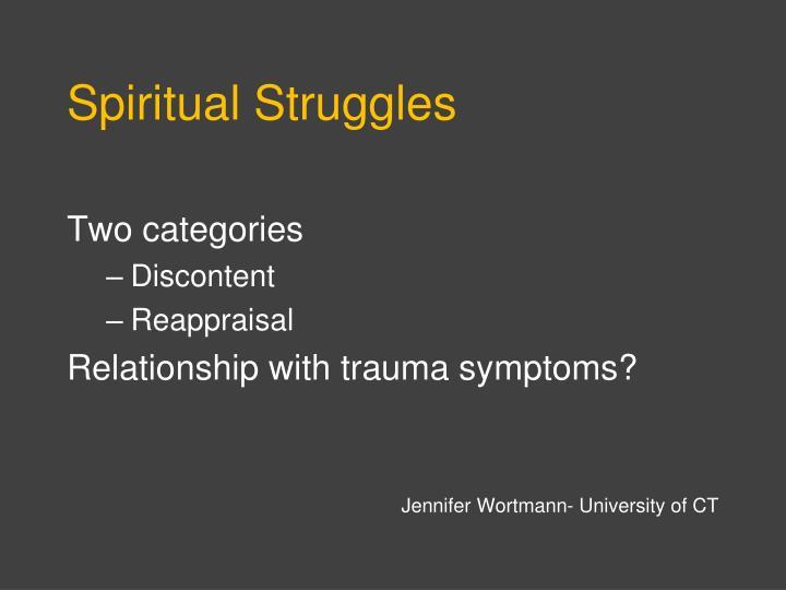 Spiritual Struggles