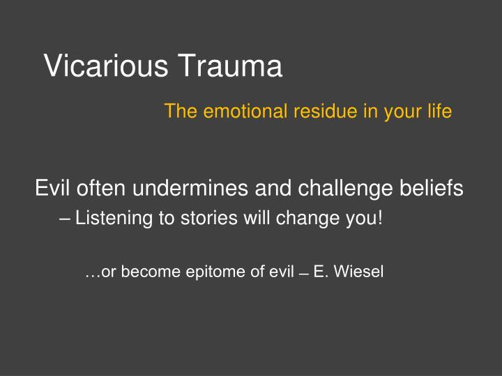 Vicarious Trauma
