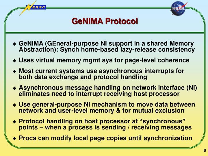 GeNIMA Protocol