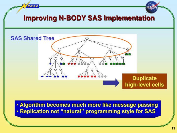 Improving N-BODY SAS Implementation