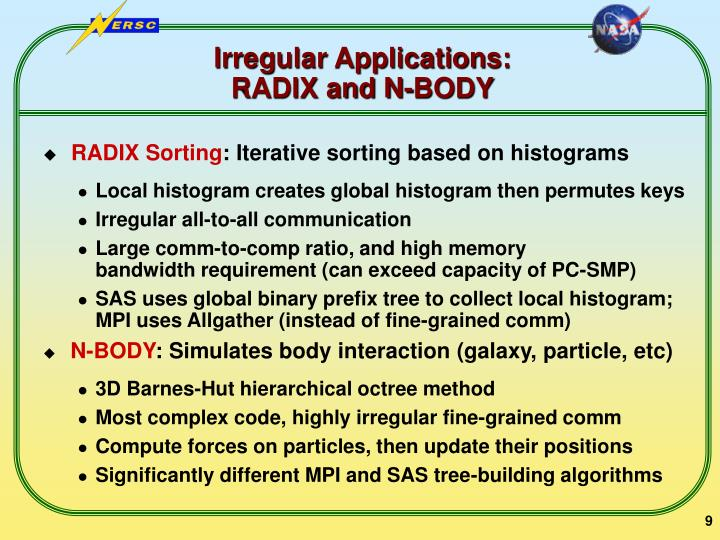 Irregular Applications: