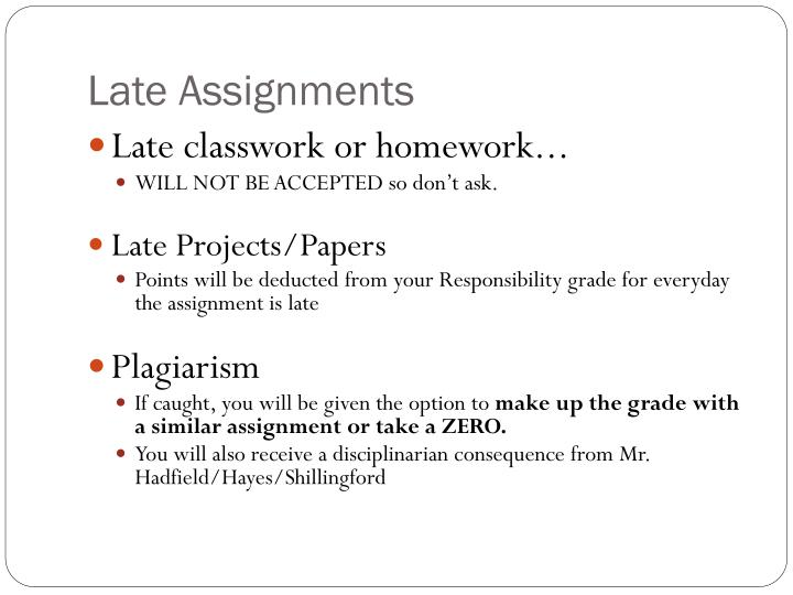 Late Assignments