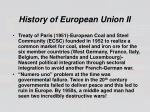 history of european union ii