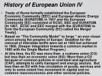 history of european union iv