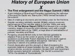 history of european union x
