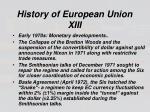 history of european union xiii