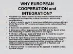 why european cooperation and integration