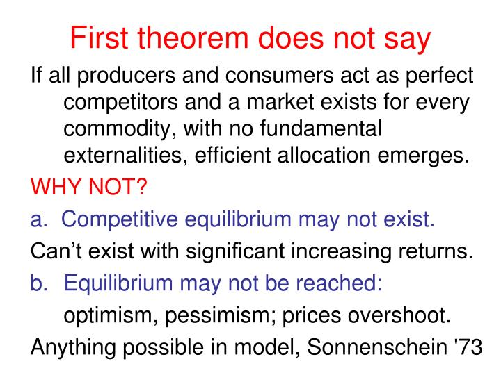 First theorem does not say