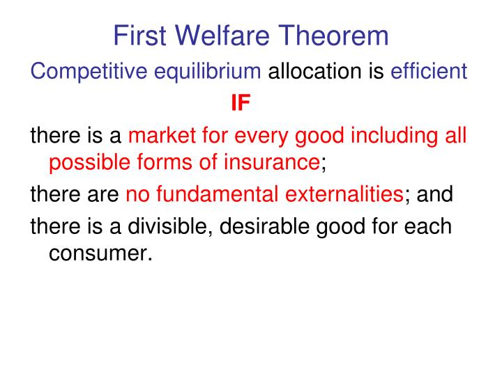 First Welfare Theorem