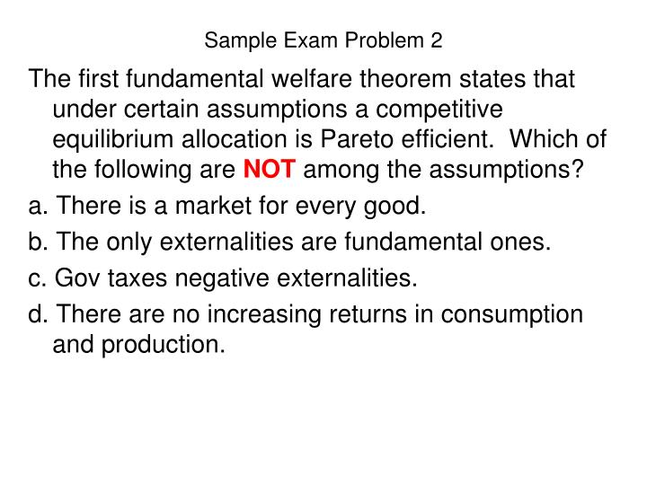 Sample Exam Problem 2