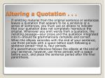 altering a quotation
