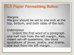 mla paper formatting rules