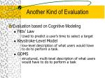 another kind of evaluation