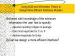 using klm and information theory to design more efficient interfaces raskin