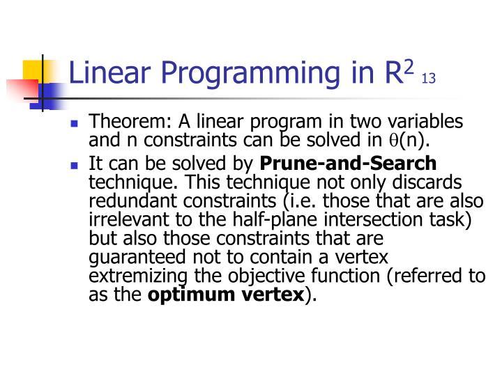 Linear Programming in R