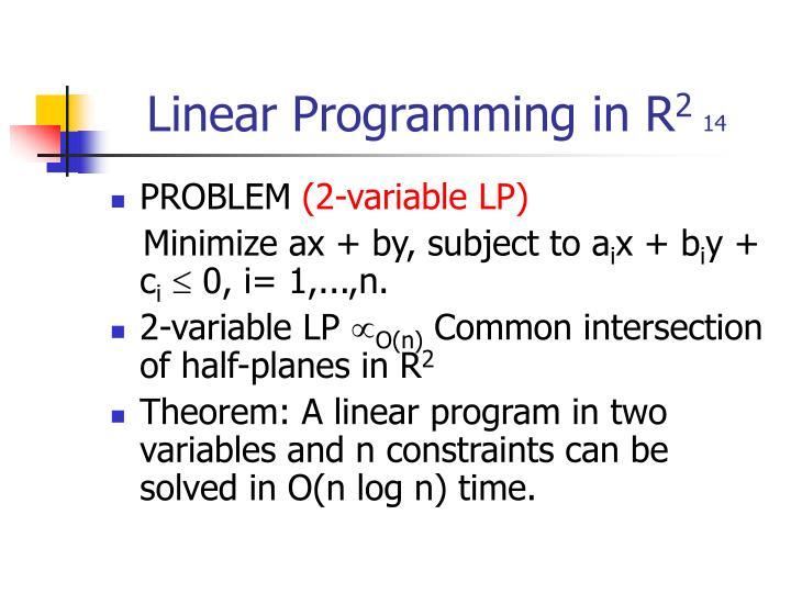 Linear programming in r 2 14