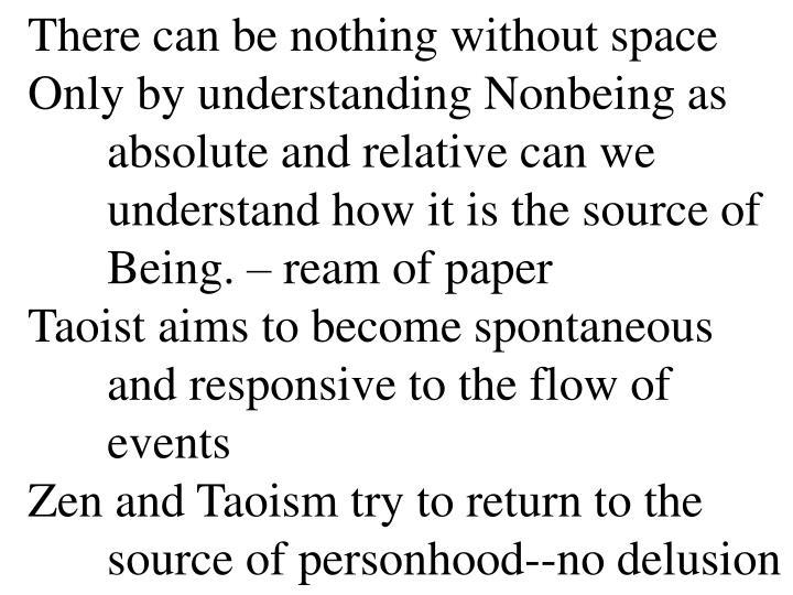 There can be nothing without space