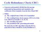 cyclic redundancy check crc1