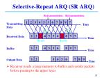 selective repeat arq sr arq
