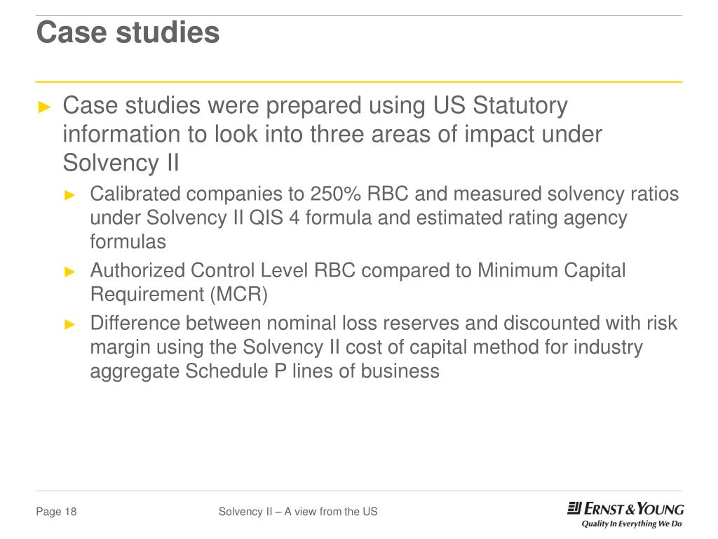 Ppt Solvency Ii A View From The Us Casualty Loss Reserve