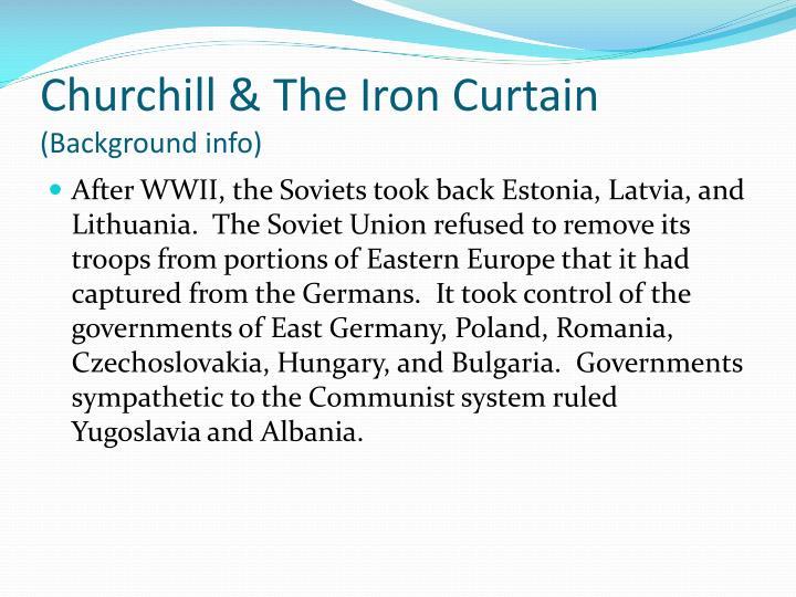 Churchill & The Iron Curtain