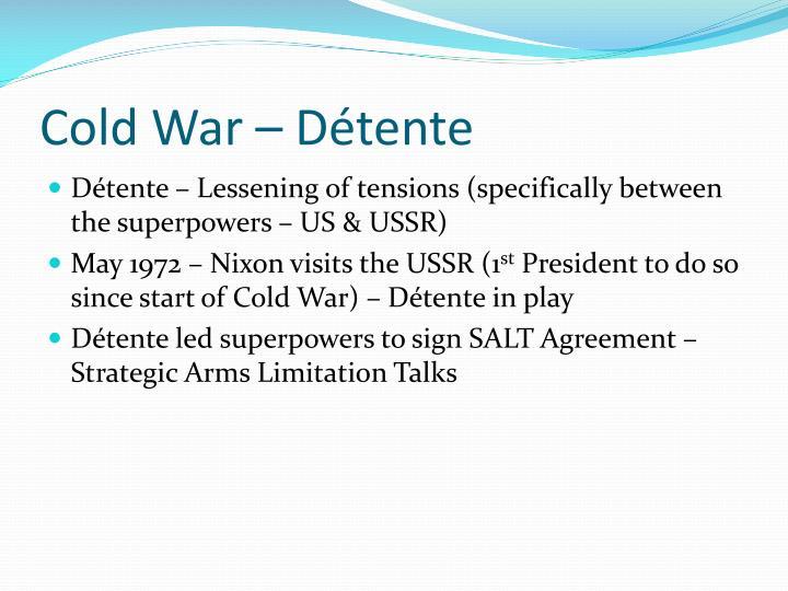 Cold War – Détente