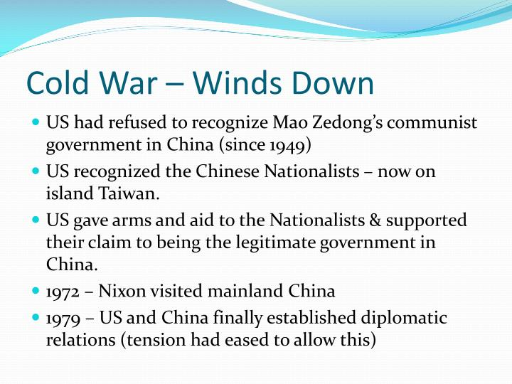 Cold War – Winds Down